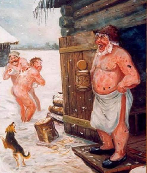 Русские всегда отдыхали примерно так – с задором, весельем и в отличном настроении.