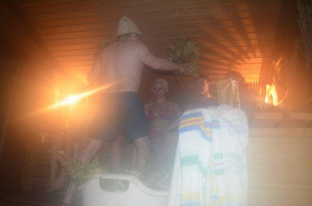 Русская баня с парильщиком