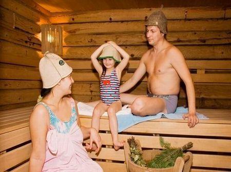 Русская баня - паримся с детьми