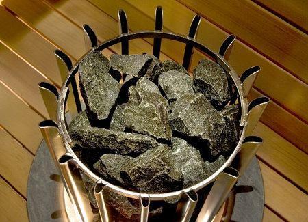 Камни для электрокаменки: как уложить, какие лучше